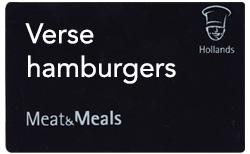 Verse hamburgers kaarten