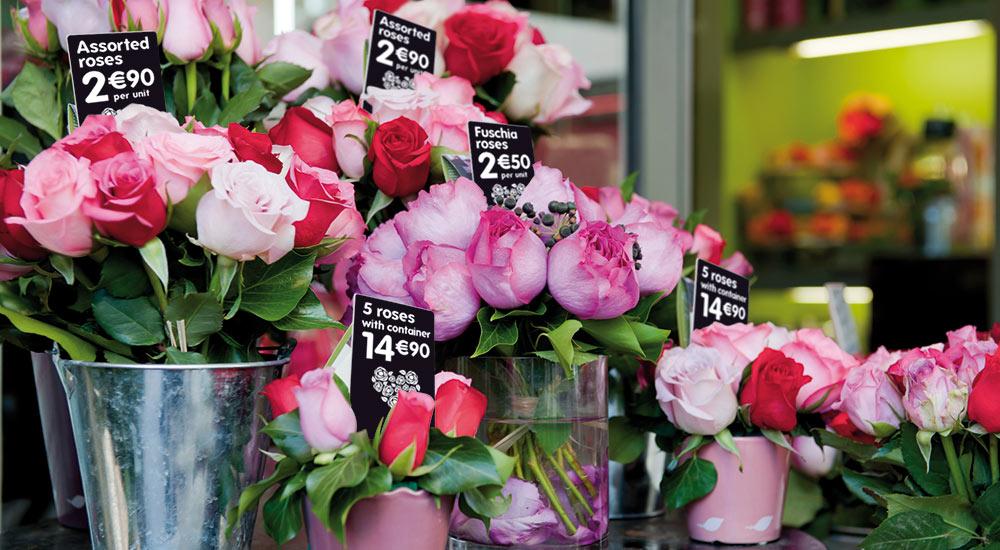 bloemisten toonbankkaarten prijskaarten